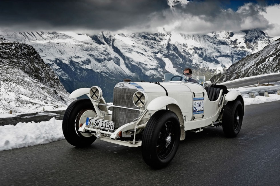 Mercedes-Benz Classic at the Grossglockner Grand Prix 2012. Mercedes-Benz type SSK (1928)