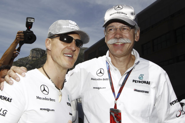 In Good Times and Bad, Mercedes Stands Behind Michael Schumacher