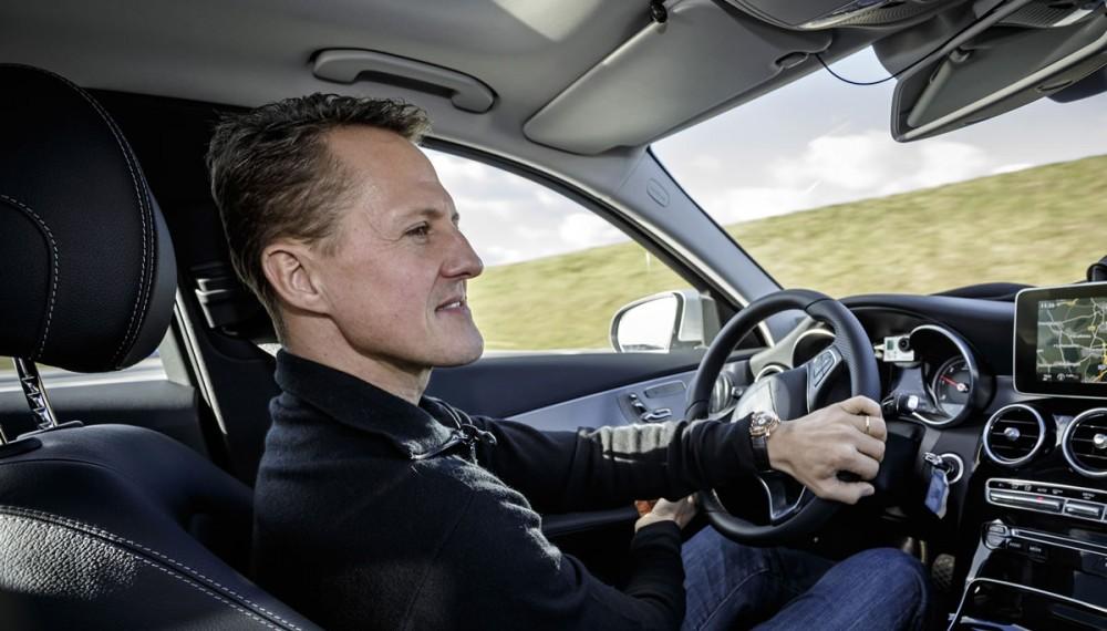 Michael Schumacher tests the new C-Class