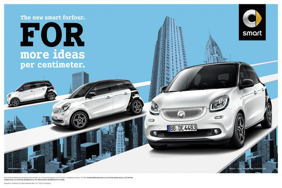 smart forfour launch campaign 2014