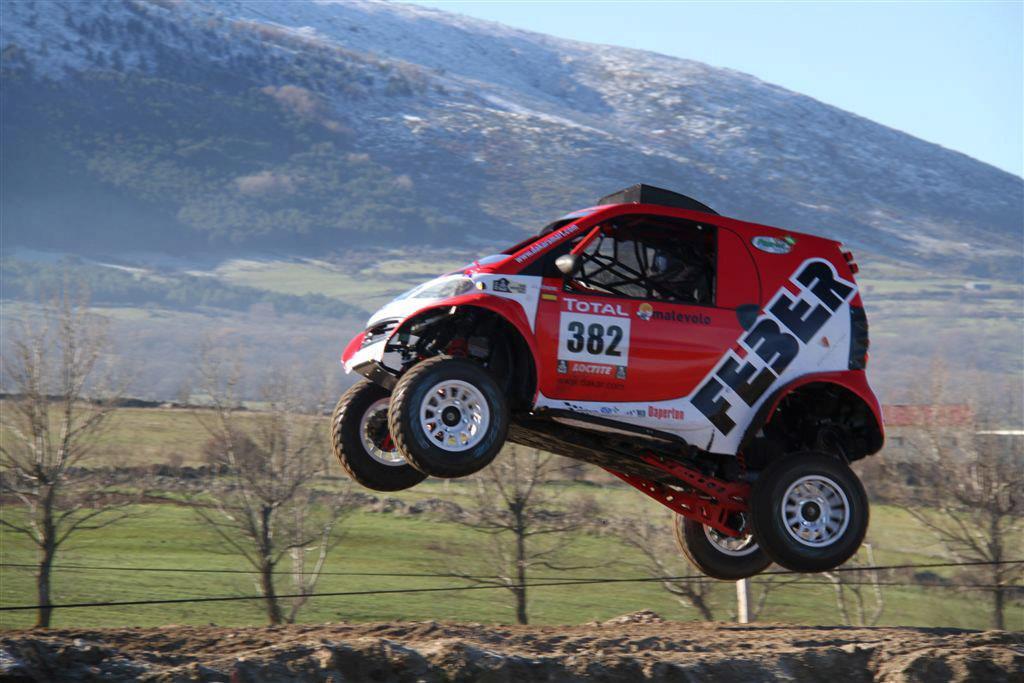 smart fortwo dakar rally car