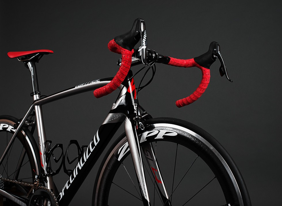 Specialized Tarmac SL4 Pro Race handle bars, SRAM Force 22 components