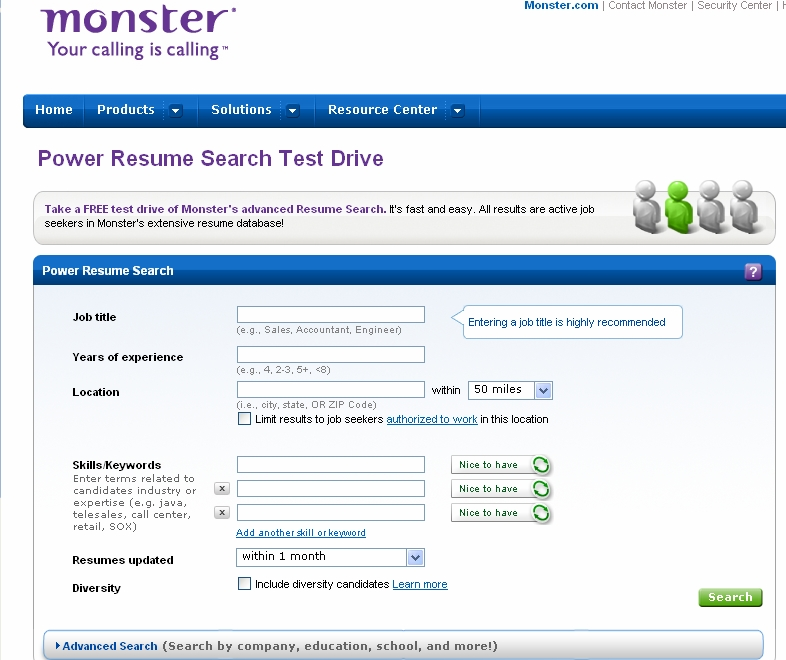 Monsters new resume search is a winner ere power resume search screen altavistaventures