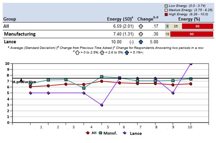 Figure 2: example of an employee's energy chart.