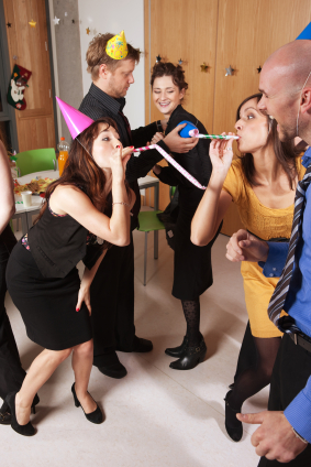 Holiday parties can be a challenge for management and HR. From the HR blog at TLNT. (Photo by istockphoto.com)