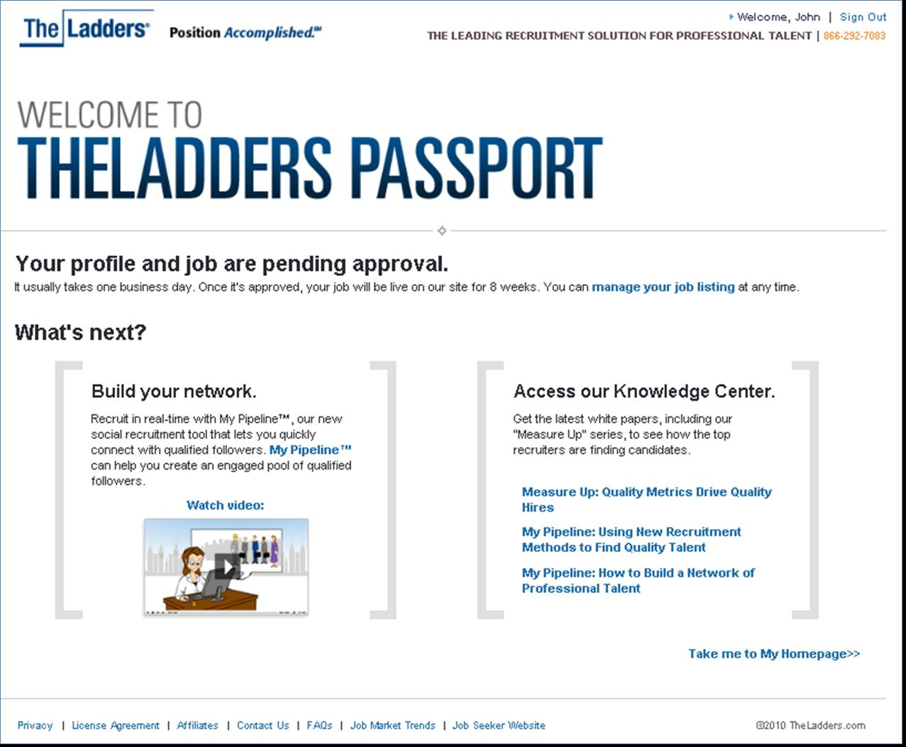 alexandre douzet president and co founder of the ladders described passport as an entry level product i suppose thats primarily because as a freebie