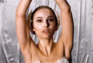 Natalie Portman as a ballerina in the movie Black Swan.