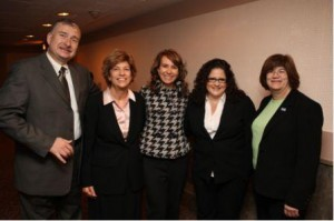 Representative Giffords (center) with Arizona SHRM Members on Capitol Hill in April 2009 (Photo courtesy of SHRM).