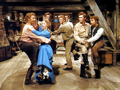 Like dancing? There's plenty of it in the film Seven Brides for Seven Brothers.