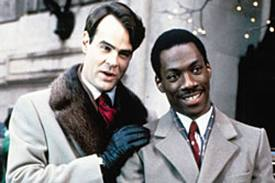 Dan Aykroyd and Eddie Murphy plot revenge against the power-grubbing Duke brothers in Trading Places.