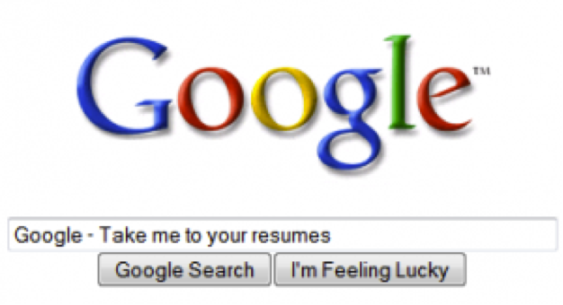 how to search for resumes on google