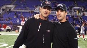Jim Harbaugh (San Francisco 49ers coach) and John Harbaugh (Baltimore Ravens coach)