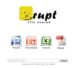 Brupt search engine