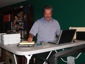 Gionta at his desk