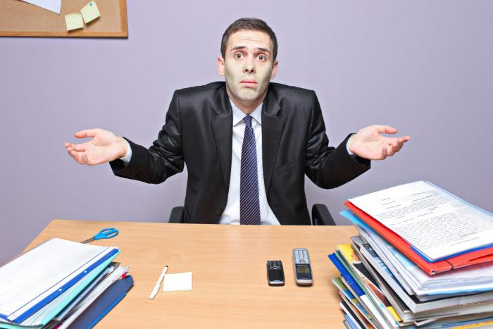 Businessman in Office