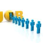 Job candidates in line - freedigital