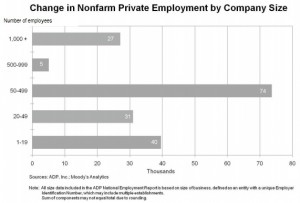 ADP Aug 2013 jobs by co size