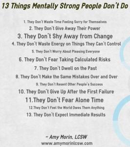 13 things mentally