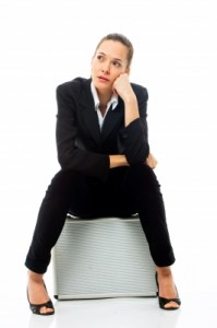 Bored businesswoman - freedigital