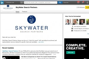 Skywater page on linkedIn