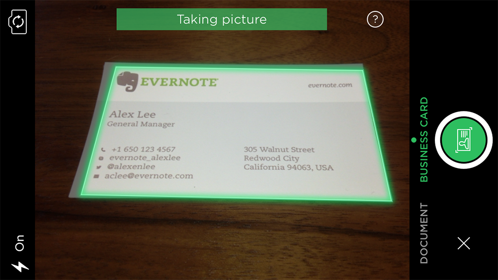 Scan Business Cards and Instantly Connect on LinkedIn with Evernote ...