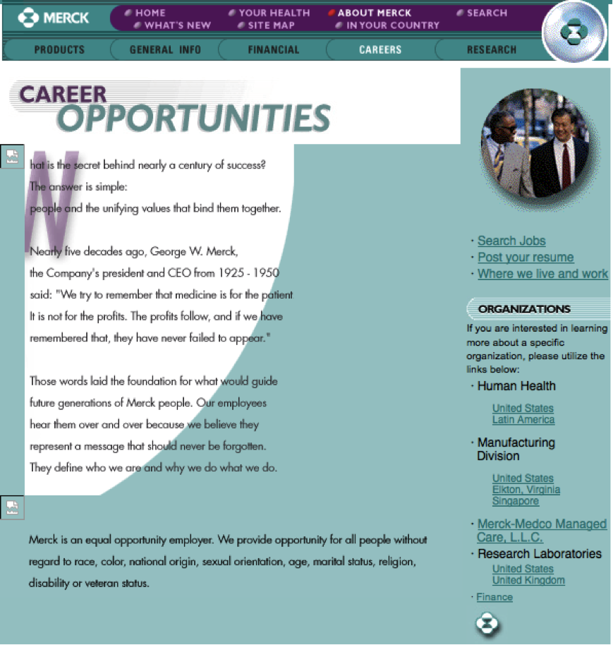 Merck career site