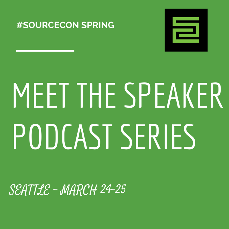 #SourceCon Meet the Speaker Series