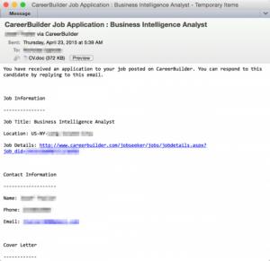 Careerbuilder malware emails