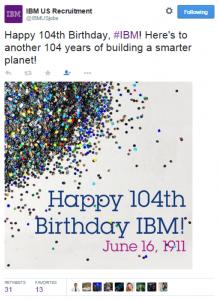 IBM Birthday