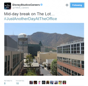 Disney Studios photo on Twiter