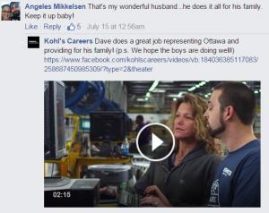 Kohl's FB post