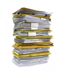stacks of resumes