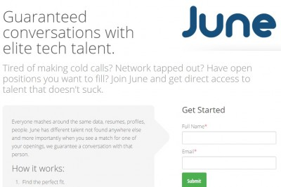 JoinJune recruiter page