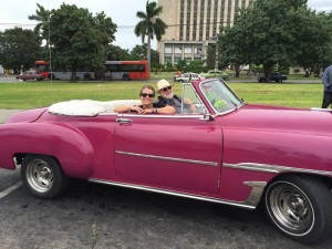 Laurie Ruettimann and Gerry Crispin in Cuba