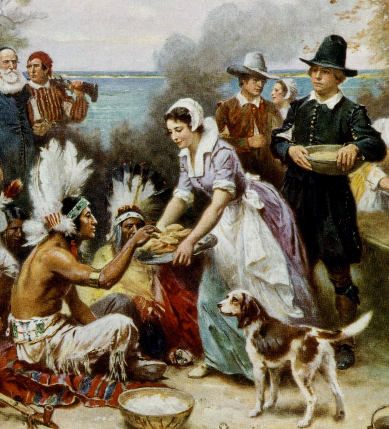 the first thanksgiving The first thanksgiving was held in florida a half-century before the pilgrims.