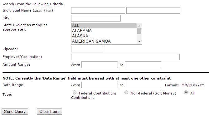 FEC search box