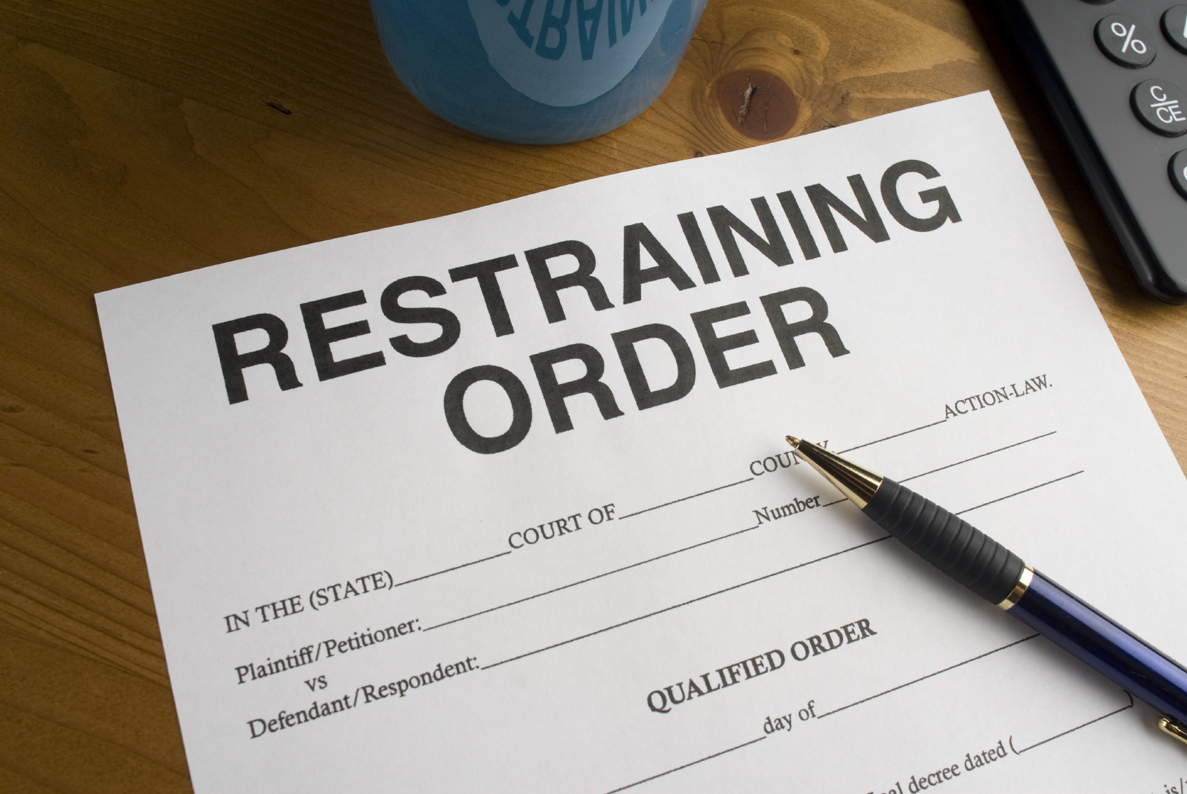 restraining order document - family law - criminal defense lawyer - lyons snyder collin plantation fl 33324