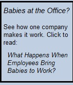 Promo for babies at work article