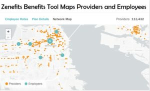 Zenefits helt network map