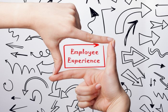 employee experience words in hand