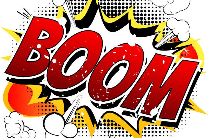 Boom comic book action