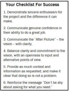 Lee Checklist for success