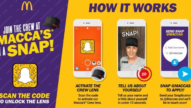 McDonald's Recruiting via Snapchat