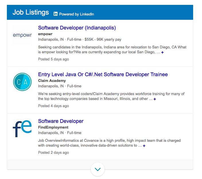 Bing Mimics Google for Jobs