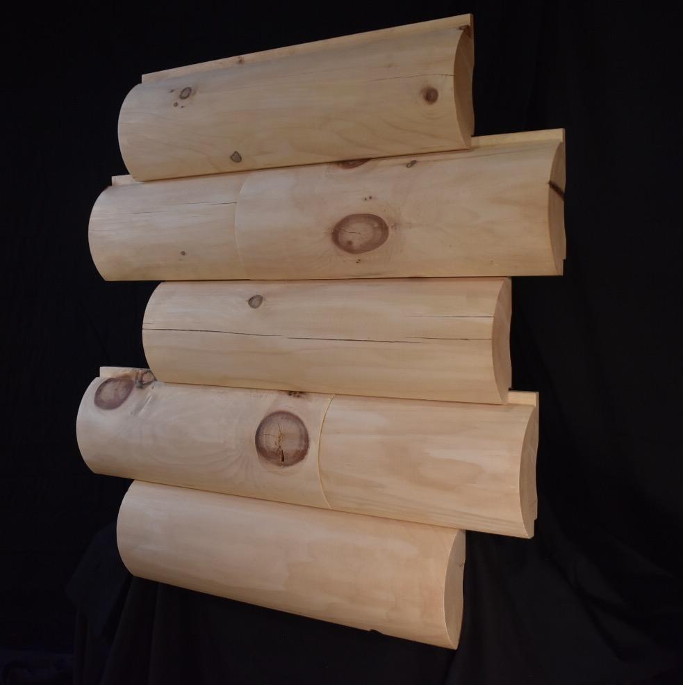 "10"" Round Log Siding"