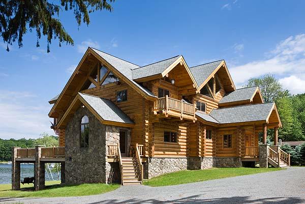 Exterior, horizontal, overall front 3/4 view, Battiato residence, Tafton, Pennsylvania; Estemerwa...