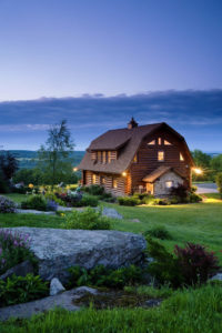 A beautiful log home in rural Pennsylvania supplied and built by Estemerwalt Log Homes, a fifth generation Log Home company out of Honesdale, Pennsylvania.
