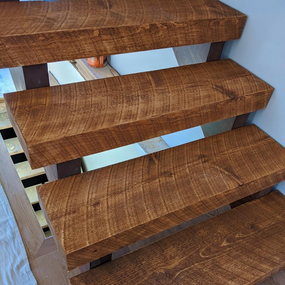Circular Sawn Rough Timbered Stairs
