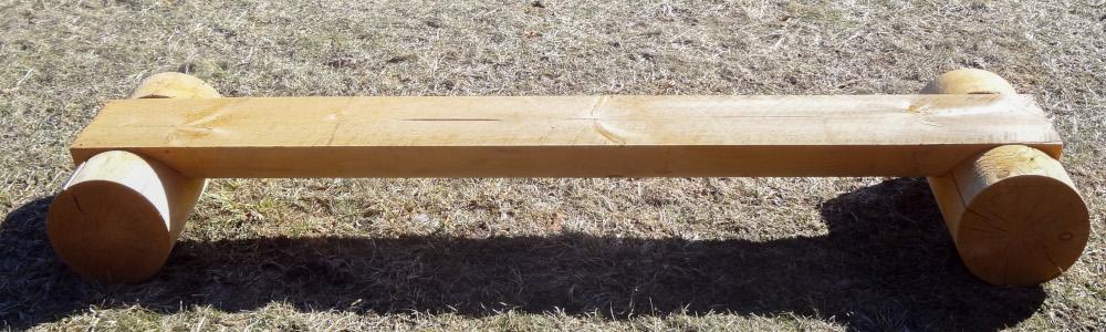"12"" Round Log Bench"