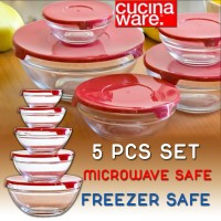 5 Piece Glass Bowl Set